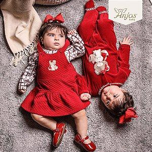 Salopete para Bebê Menina - Anjos Baby
