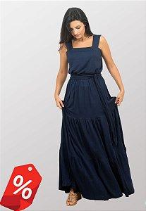 Vestido Longo Alças Grossas Maria Marinho