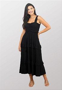 Vestido Midi Preto Suzi