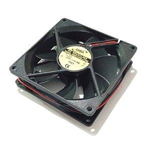 Cooler 92X92X25 12V ROLAMENTO 0.25 AMP 2900RPM - 52.5 CFM 35,0 DB(A) - BERFLO AQ0912HBA70