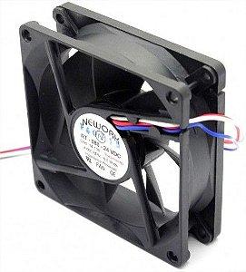 Cooler RT-080 24VDC 4.000RPM 6.0 Watts (80x80x25mm) Rolamento - 14.106 - Nework - 802524R