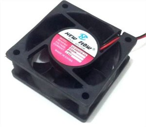 Cooler NEW FLOW 24V	NF6025HS-24 60x60x25mm	BUCHA	Amp.:	0,24	RPM:	4500  - 0600N - 602524B