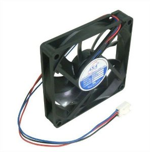 Cooler Adda 12V ASA-8015DV-HB 0800A 80X80X15mm ROLAMENTO Amp.: 0,39 RPM: 3700 3 FIOS C/ CONECTOR - 801512R