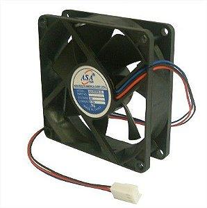 Cooler Adda 24v 8025B-24 D84 80X80X25mm ROLAMENTO Amp.: 0,22 RPM 3800 3 FIOS C/ CONECTOR - 802524B