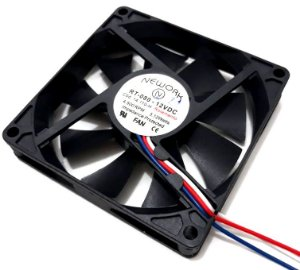 Cooler Nework 12V RT-080 14.110-H 80X80X15mm ROLAMENTO Amp.: 0,35 RPM: 3500 3 FIOS C/ CONECTOR - 801512R