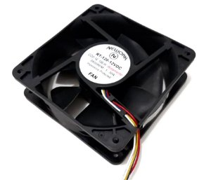 Cooler Nework 12V RT-120 16.106-H 120x120x38mm ROLAMENTO Amp.: 1,30 RPM: 3800 4 FIOS S/ CONECTOR - 1203812R