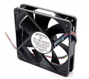 Cooler Nework 24V RT-120 16.108 120X120X25mm ROLAMENTO Amp.:0,24 RPM: 3000 4 FIOS S/ CONECTOR - 1202524R