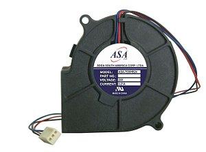 MINIVENTILADOR 24V ASA7530HB-24 BLOWER - 75x75x30mm ROLAMENTO - 3 FIOS - 0,21Amp - 0751A
