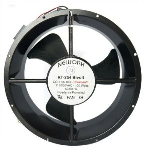 Miniventilador Bivolt 55.103 Nework 265x256x89mm Rolamento - Com ou Sem Mascara Rt-254
