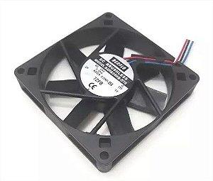 COOLER 80X80X15 - 24V - ROLAMENTO 0.10 AMP - 3,12 WATTS - 3200 RPM - 32.00 CFM 33.6 DB(A) - BERFLO - AD0824HBD76T