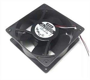 COOLER BERFLO 12V 120X120X38 - ROLAMENTO 0.50 AMP - 6.00 WATTS - 2800 RPM - 105.46 CFM 46.7 DB(A) - AD1212HBF53T