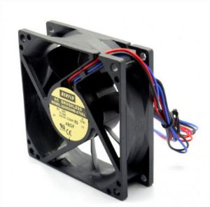 COOLER 80X80X25 - 24V - ROLAMENTO 0.16 AMP - 3.84 WATTS - 3000 RPM - 40.40 CFM 36.2 DB(A) - BERFLO - AD0824HBA76