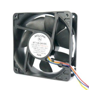 Cooler Nework 24V RT-120 16.112 120x120x38mm ROLAMENTO Amp.: 0,30 RPM: 2900 4 FIOS S/ CONECTOR