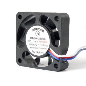 Cooler Nework 24V RT-040 11.106(R) 40X40X10mm ROLAMENTO Amp.: 0,06 RPM: 6500 3 FIOS C/ CONECTOR