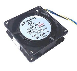 Cooler Nework Bivolt (115/230V) RT-080 51.201 80X80X25mm BUCHA 4 FIOS S/ CONECTOR
