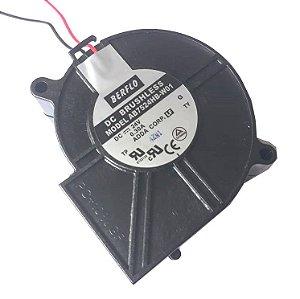 BLOWER 70X70X30 - 24V - ROLAMENTO 0.30 AMP - 7200 WATTS - 3900 RPM - 15,90 CFM 49,5 DB(A) - BERFLO - AB7524HBW01