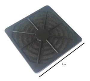 Fan Filter - Filtro para microventilador 80 mm- tela de nylon MOD GRM8030