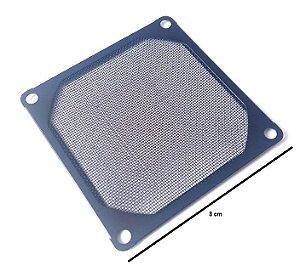 Grade de metal 80mm com tela de malha fina. Preta MOD GRM80AL01BK