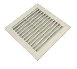 Grelha plástica de embutir c filtro 150x150 mm p microventilador AKMX016