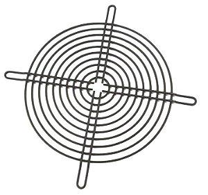 Metal preta com rebaixo para fixação (180MM) - para vent. de 180mm MG180