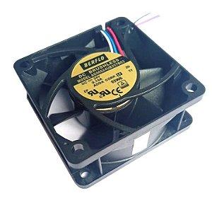 Cooler 60X60X25 24V ROLAMENTO 0,15 AMP - 6000 RPM - BERFLO - AG06024UB257B03