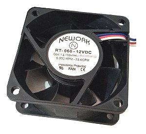 COOLER 12V 60X60X25 12VDC ROLAMENTO 6000RPM 0,20Amp Nework 13108HH