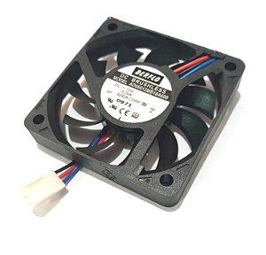 COOLER 60X60X10 12V ROLAMENTO 0.20 AMP - 4000RPM - 16.11 CFM - BERFLO - AD06012MB10A600