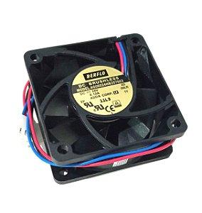 Cooler 60X60X25 24V ROLAMENTO 0.12AMP 4500RPM - 23.36 CFM  - BERFLO - AG06024HB257603(00L5)