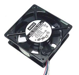 COOLER 120X120X38 BIVOLT 115~230V 60HZ - ROLAMENTO 0.21/0.10 AMP - 14.20/14 WATTS - 2900 RPM 93,00 CFM 44,5 DB(A) - BERFLO AA1282HBAW2V