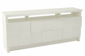 BALCAO/BUFFET 176CM QUADRICULADO 3D - OFF WHITE TB282 WW