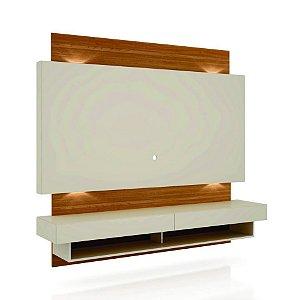 PAINEL 180CM C/02 GAVETAS + LED - OFF WHITE/FREIJO TB115L WJ