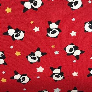 Cotton Light Pandas Fundo Vermelho