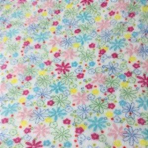 Fleece Estampada Flores