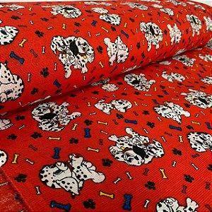 Gorgurinho Estampado Cachorrinhos Vermelho
