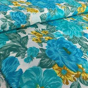 Gorgurinho Estampado Floral Azul