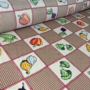Oxford Estampado Legumes Bege