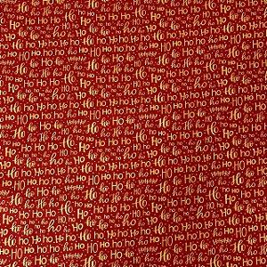 Tricoline Estampada Hohoho Vermelha