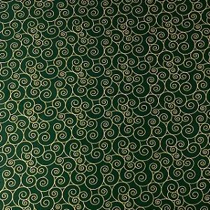 Tricoline Estampada Padrões Verde
