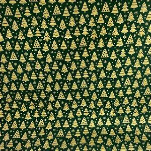 Tricoline Estampada Pinheiros Verde