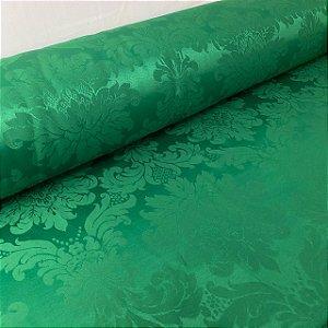 Jacquard Arabesco Verde Bandeira