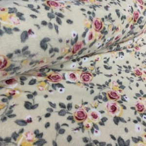 Fleece Estampada Rosas