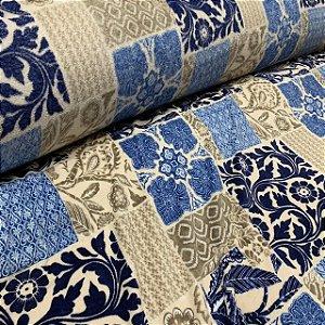 Fleece Estampada Floral Ornamentado