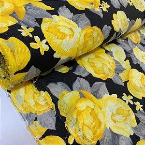 Gorgurinho Estampado Flor Amarela