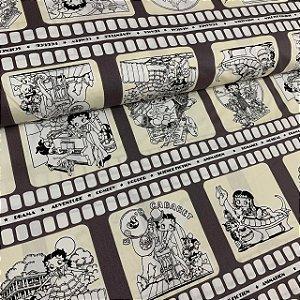 Tricoline Estampada Betty Boop Filme