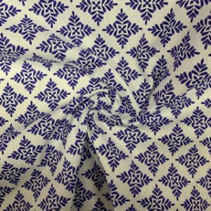 Tricoline Estampada Azulejo Português Coimbra