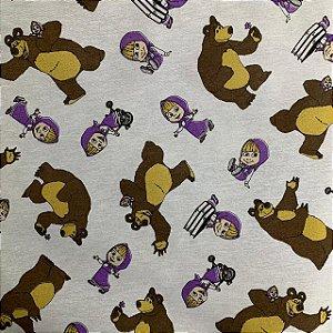 Tricoline Estampada Macha e o Urso