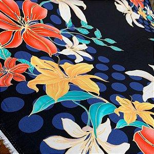 Viscose Estampada Barrada Floral