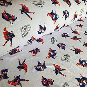 Malha de Algodão Estampada Superman