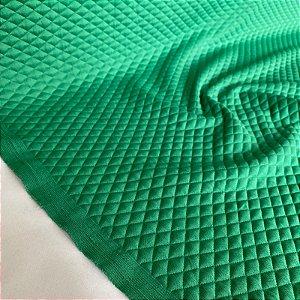 Malha Matelassê Verde