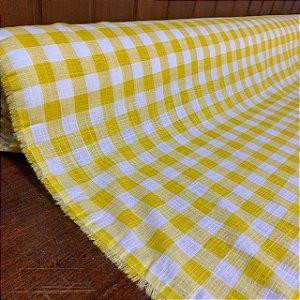 Tricoline Flamê Xadrez Amarelo